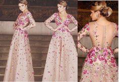 Vestido de festa com bordado floral Wedding Dress Patterns, Wedding Dresses, Gala Dresses, Formal Dresses, Pretty Dresses, Beautiful Dresses, Bordado Floral, Groom Dress, Party Fashion