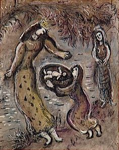 Moses is saved from the water by Pharaoh's daughter - Marc Chagall