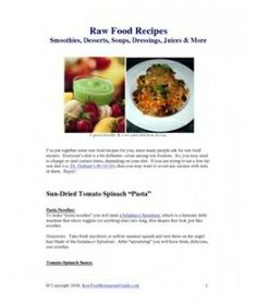 Raw Food Recipes books