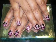 plaid nail art - Google Search