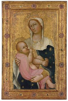 Lot 32. Paolo di Giovanni Fei (San Quirico, Castelvecchio, or Siena c. 1340/5-c. 1411)  The Madonna and Child