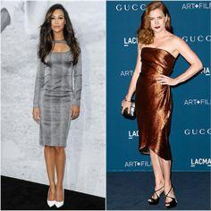 Naya Rivera in Monique Lhuillier vs. Amy Adams in Gucci. Click through to vote!