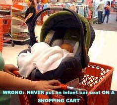 8 deadly car seat mistakes every parent should know about! (I'm guilty of the shopping cart and the turning too early. I'll try to do better with Thing 2.)