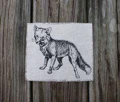 Vintage Illustration Fox Patch