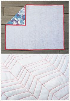 Modern way to quilt a blanket.