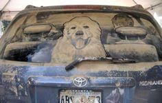 Spectaculaire kunst met smerige auto's - ja.be