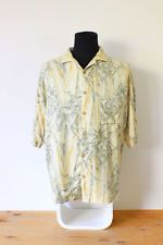 HAWAIIAN SHIRT mens tee HIPSTER trendy holiday bamboo BRIGHT VINTAGE Festive MED