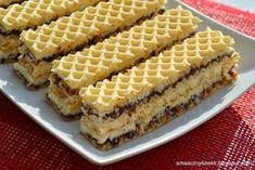 Wafel kokosowy Sweet Desserts, No Bake Desserts, Sweet Recipes, Dessert Recipes, Polish Desserts, Polish Recipes, Waffles, Wafer Cookies, Delicious Deserts