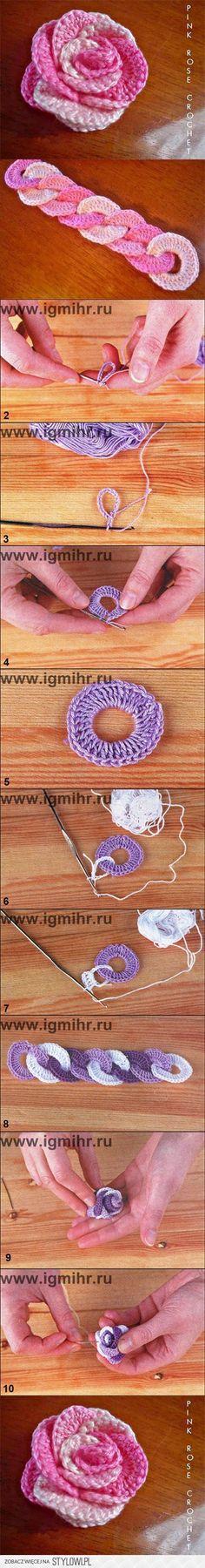 jak DIY Crochet blokującego Rose, opaska, pasek | www.F… na Stylowi.pl
