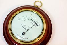 Ingraham Hair Hygrometer (1970s) - Vintage Humidity Meter - Vintage Science Instruments - Barometer by StrikingThirteen on Etsy