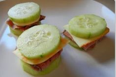 "Skip crackers and use cucumbers to make a healthier and GF ""lunchable type"" option  GF ingred"