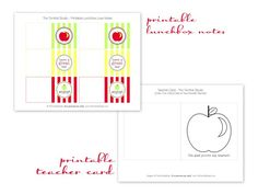 Free printable lunchbox love notes for @HGTV!