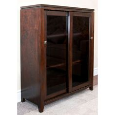 Essex Coffee Brown Medium Storage Media Cabinet & Buffet - Overstock Shopping - Great Deals on WyndenHall Media/Bookshelves