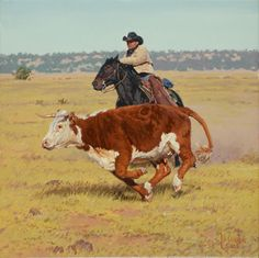 Makin' a Run for It by Bill Owen, created for the 2009 Cowboy Artists of America Show held at Phoenix Art Museum.