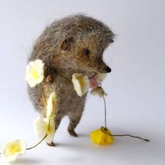Новости. Hedgehog with flower garland.