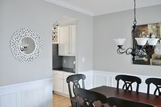 mindful gray sherwin williams - kid's bath or Anna' s room? Light Grey Walls, Gray Walls, Grey Wall Color, Wall Colors, Mindful Gray, Paint Colors For Home, Paint Colours, Living Room Decor, Dining Room