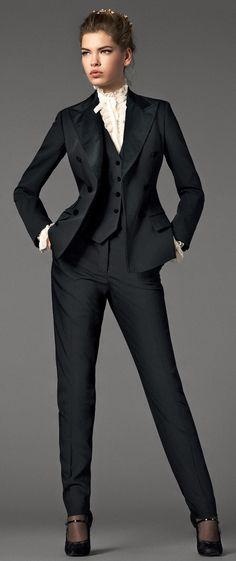 Love woman suits!!! I Want a dapper pants lady suit badly. #shopforit