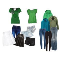 """Pine Green"" by yazzumi on Polyvore"