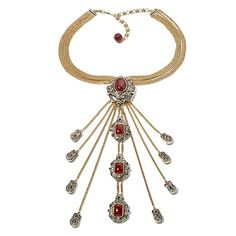 """Heidi Daus """"Victorian Beauty"""" Carnelian and Crystal-Accented 16-1/2"""" Necklace at HSN.com"""