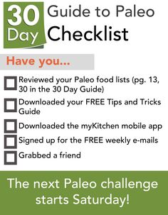 30 Days of Paleo for November starts Saturday. Are you joining in?
