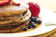 Sweet Potato Pancakes. Delicious! #sweetpotatopancakes #healthypancakes