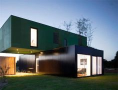 Shipping container homes -  Modernly chic and green container house in France