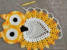 Imagen relacionada Owl Crochet Patterns, Crochet Owls, Crochet Amigurumi, Owl Patterns, Thread Crochet, Filet Crochet, Crochet Animals, Crochet Crafts, Crochet Doilies