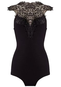Crochet Neck Bodysuit | Womens Dresses | RicketyRack.com