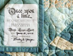 wedding quilt labels | Custom quilt labels by @Shanna Freedman Hodges Smith