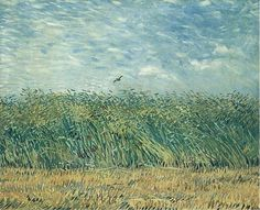 off Hand made oil painting reproduction of Wheat Field With A Lark, one of the most famous paintings by Vincent Van Gogh. In Vincent Van Gogh painted the understated landscape Wheat Field With A Lark. Vincent Van Gogh, Van Gogh Museum, Art Van, Renoir, Claude Monet, Pablo Picasso, Van Gogh Arte, Artist Van Gogh, Image New
