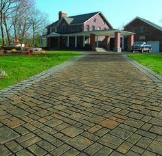 This stunning driveway features Cambridge's eco-friendly permeable pavers.