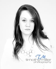 Black and white senior picture
