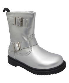Love this Silver Welma Buckle Boot on #zulily! #zulilyfinds