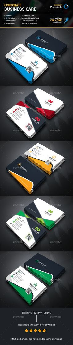 Corporate Business Card Bundle Templates PSD. Download here: http://graphicriver.net/item/corporate-business-card-bundle/16670408?ref=ksioks