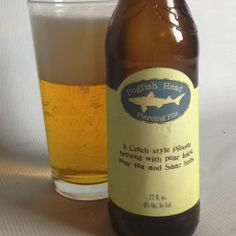Piercing Pils, a Czech-style pilsner, brewed with pear juice, pear tea and Saaz hops, by Dogfish Head Crawft Brewery, Milton, DE (12oz, 6%) December 2013