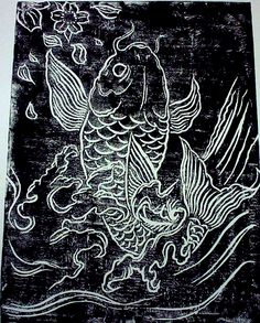 Lino Cutting by Gary Chua, via Behance