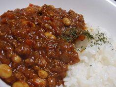 ☆簡単うまうまキーマカレー☆の画像 Chana Masala, Chili, Soup, Ethnic Recipes, Chile, Soups, Chilis