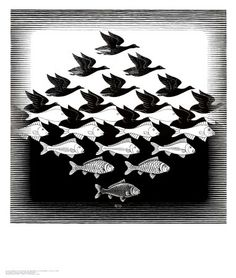 This is the Escher tesselation I wanted to turn into a tattoo. Maybe.