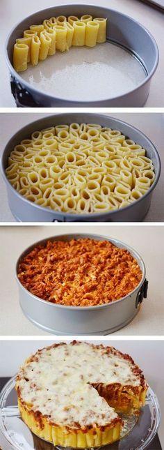 Three Cheese Italian Rigatoni Pie