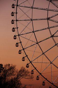 Sunset Ferris wheel, Kasai Rinkai Park, Tokyo, Japan