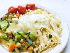 Vegan Fettucine Alfredo Photo Credit Savvy Vegetarian