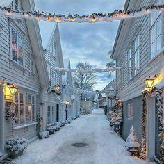 Christmas preparation in Stavanger, Norway