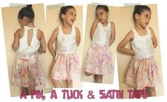 Skirt Tutorial: A Pin, A Tuck & Satin Tape by Sepa Designs