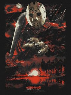 Jason Friday, Friday The 13th, Horror Artwork, Jason Voorhees, Alternative Movie Posters, Movie Wallpapers, Great Films, Michael Myers, Freddy Krueger
