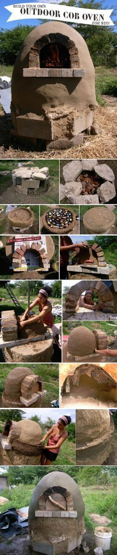 How To Build An Outdoor Cob Oven For $20 use hypertufa! There is a product for heat in the oven part! #livingecology #permacultureinternship