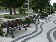 Benito Urban in Hungary Landscape Elements, Landscape Materials, Urban Landscape, Landscape Architecture, Landscape Design, Paving Texture, Pavement Design, Paving Pattern, Paving Design