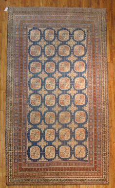 Antique Decorative East Turkestan Khotan Rug Size 6'11''x12'10'' | eBay