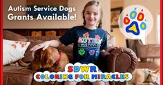 With hundreds of lives touched by our Autism Dogs, there is no question that our service dogs work to make a difference. Don't wait, apply today for your chance at a $10,000 Autism Service Dog grant! Submissions close April 30th, 2015! APPLY TODAY: http://www.sdwr.org/coloring-for-miracles/