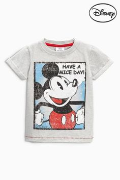Buy Grey Mickey Mouse™ Short Sleeve T-Shirt (3mths-6yrs) online today at Next: Israel