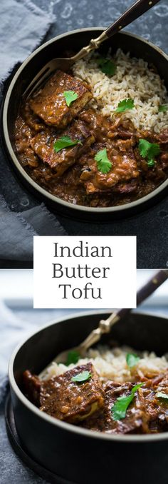 Indian Butter TOFU! This vegan adaptable recipe is full of flavor and simple to make!